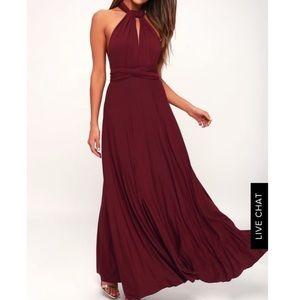 LuLu's Infinity Dress- Burgundy!!